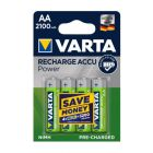 VartaACCU Rechargeable AA Battery 2100 mAh - Pack of 4, VA550692