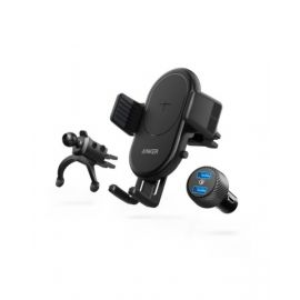 Anker PowerWave 7.5 Car Mount with 2-Port Quick Charge 3.0 Car Charger ANB2551H13BK