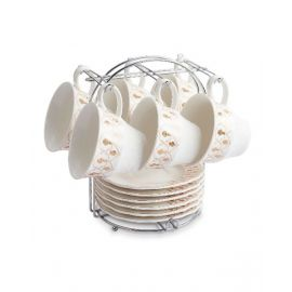 Blumen Cup & Saucer Set With Stand 13 Pcs BCS181066M