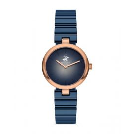 Beverly Hills Polo Club Blue Dial Analog Womens Stainless Steel Watch - BH9621-05