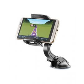 Cellularline Pilot Techno - Universal Smarphone Car Holder, Black - BIGCRABDUALFIX