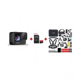 Gopro Hero 9 Bundle Camera, SD Card and Action Camera Accessories Kit BUNGOPRO