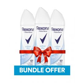 Rexona Cotton Dry Spray Deodorant 150 ml Bundle BUNRCOTTONDRY150