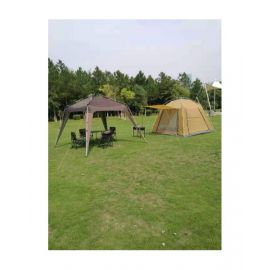 Camptrek Instant Tent With Gazebo 3X3 6-8 P Gold Coffe - CT1019AGZB