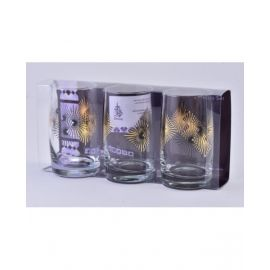 DIMLAJGLASS TUMBLER SET RAY GOLD DJ42611