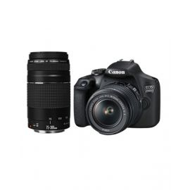 Canon DSLR Camera EOS 2000D with 18-55 IS + 75-300 DC Lens Black