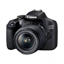 Canon EOS-2000D DSLR camera EF-S 18-55 mm IS II 24.1 MP Black