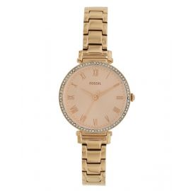 Fossil Women's Kinsey Three-Hand Rose Gold-Tone Stainless Steel Watch ES4447