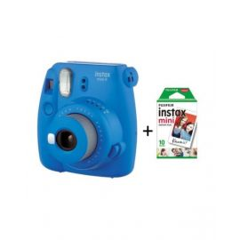 Fujifilm Instax mini 9 Instant Film Camera, Cobalt Blue With 10 Sheet Free Films