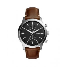 Fossil Townsman Chronograph Dark Brown Leather Men's Watch FS5280