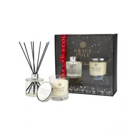 Perfect Couple - 200g Candle and 200ml Reed Diffuser - White Nectarine & Pear GCG1779010