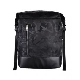 """Hama """"Roll-Top Mission Camo"""" Notebook Backpack, up to 40 cm (15.6""""), black/camo - 101824"""