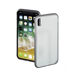 """Hama Cover """"Sticky"""" for Apple iPhone X / Xs transparent / gray"""