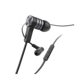 "Hama ""Intense"" headphones, in-ear, microphone, flat cable, black - 184018"