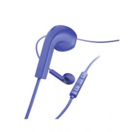 "Hama ""Advance"" headphones, earbuds, microphone, flat cable, blue - 184039"