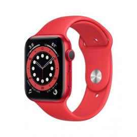 Apple Watch Series 6 GPS, 44mm RED Aluminium Case with RED Sport Band - Regular - M00M3B