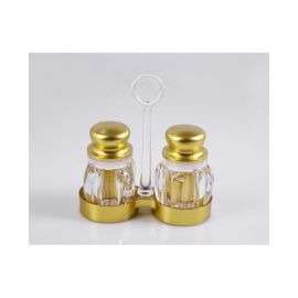 Makaan Salt & Pepper Shaker Set W Holder 	M02043