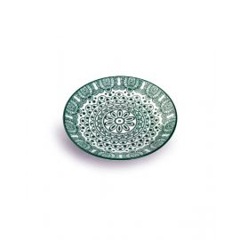 Makaan Round Plate Green Arabisc 6.5 inch MD03062
