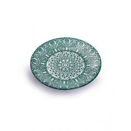 Makaan Che Brucia Round Plate Green Arabisc 9 inch MD03064