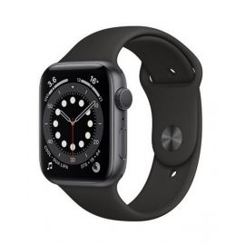 Apple Watch Series 6 GPS, 40mm Space Grey Aluminium Case with Black Sport Band MG133