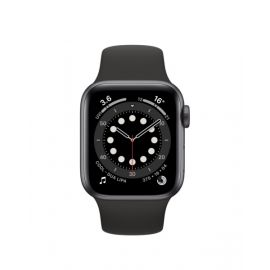 Apple Watch Series 6 GPS, 40mm Space Grey Aluminum Case with Black Sport Band MG133AEA