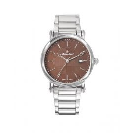 Mathey Tissot City Metal Brown Dial Analog Mens Stainless Steel Watch - HB611251MAM