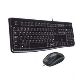 Logitech MK120 Wired Keyboard + Mouse Combo, Black