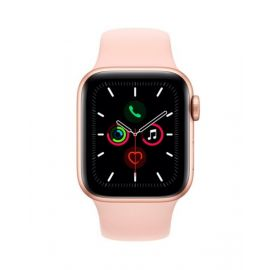 Apple Watch Series 5 44mm GPS + Cellular Gold Aluminum Case with Pink Sand Sport Band MWW02