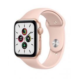 Apple Watch SE GPS, 44mm Gold Aluminium Case with Pink Sand Sport Band MYDR2