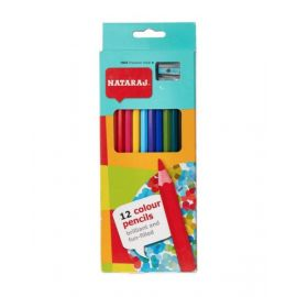 Nataraj 12 Piece Full Size Color Pencil With Sharpner
