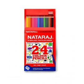 Nataraj 24 Piece Full Size Colour Pencils With Sharpner