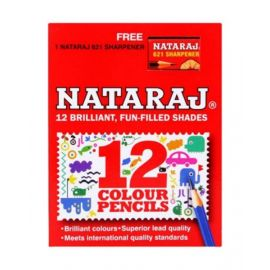 Nataraj 12 Piece Half Size Color Pencil With Sharpner