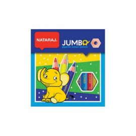 Nataraj 12 Jumbo Color Pencil With Sharpner