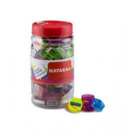 Nataraj 50 Piece Neon Crystal Sharpner Jar