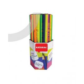 Nataraj 72 Piece Neon/Fluorescent Pencil Hexagonal
