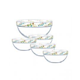 Luminarc Stack. Bowl Rose La. 5Pcs Set -N8949