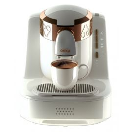 ARZUM OKKA MINO TURKISH COFFEE MACHINE WHITE COPPER OK001W