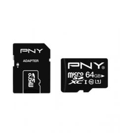 Pny Class 10 64GB Micro SD Card With Adapter