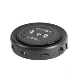 Promate All-in-One USB-C Hub with Power Delivery & Wireless charger