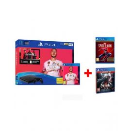 Sony Ps4 1Tb Fifa 20 Play Station + Ps4 Spider Man Game CD +  Ps4 Nioh Game CD