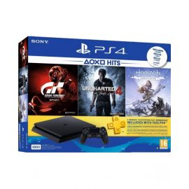 Ps4 500Gb + 4 Games - Horizon + Grand Torism + Uncharted4 + Frontier Voucher