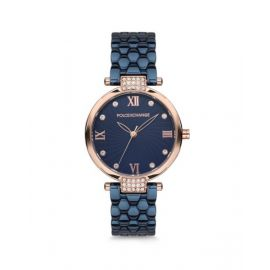 Polo Exchange Blue Dial Analog Womens Stainless Steel Watch - PX0078-02