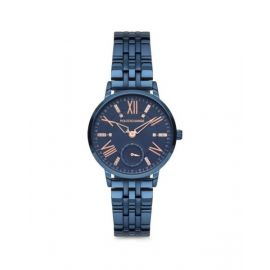 Polo Exchange Blue Dial Analog Womens Stainless Steel Watch - PX0080-05
