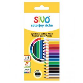 Sivo 14Piece Full Size Colorjoy Riche Color Pencils