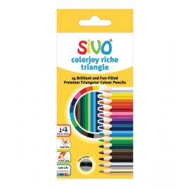 Sivo 14Piece Full Size Colorjoy Riche Color Pencil