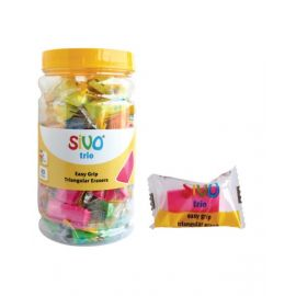 Sivo 40Piece Trio Triangular Eraser Jar