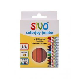 Sivo 14Piece Colorjoy Jumbo Round Wax Crayons 90Mm