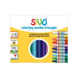 Sivo 24Piece Colorjoy Jumbo Triangale Oil Pastels