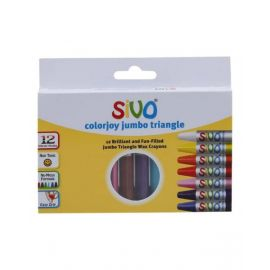 Sivo 12Piece Colorjoy Jumbo Triangle Oil Pastels