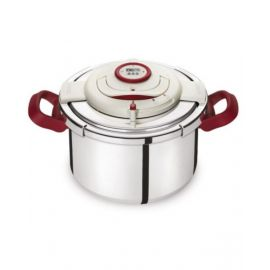 Tefal Stainless Steel Clipso Precision Pressure Cooker 8 liter, Silver P4411462